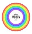 Rainbow circle element vector image