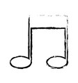 note music melody sound artistic sketch vector image
