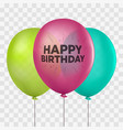 bunch of colorful realistic helium balloons vector image