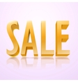 big red 3d letters forming the word SALE vector image vector image