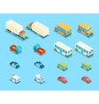 Isometric city transport 3d icons set vector image vector image