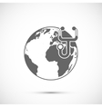 Stethoscope with globe vector image