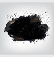 banner splatter splashes and blobs vector image