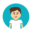 happy boy with facial expression and casual cloth vector image