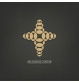 Isolated cross logo with golden elements Religion vector image