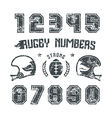 Rugby numbers for t shirt vector image