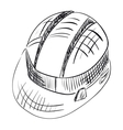 Safety hard hat over white vector image