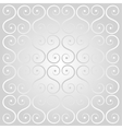 silver decorative lattice vector image