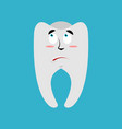 tooth surprised emoji teeth astonished emotion vector image