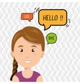 woman chat message speaker vector image