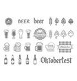 Simple set of beer related icons for your design vector image