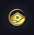 water house icon gold logo vector image vector image