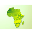 Africa country map presentation vector image