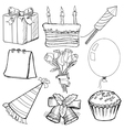 objects for celebration vector image vector image