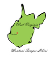 State of West Virginia vector image