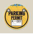 Parking Permit Card vector image