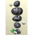 Set of stones vector image vector image