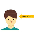 isolated nosebleed on man in cartoon design vector image