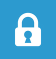lock icon white on the blue background vector image