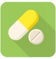 Vitamin pills icon vector image
