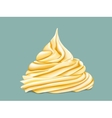 yellow tiered twisted cream vector image