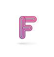 Letter F logo icon design template elements vector image vector image