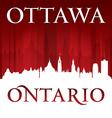 Ottawa Ontario Canada city skyline silhouette vector image vector image