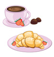 breakfast and coffee vector image