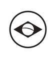 stylish black and white icon Brazil logo vector image
