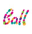 Ball word network logo vector image