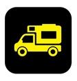 camper trailer icon vector image
