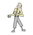 comic cartoon old man having heart attack vector image
