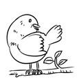 line drawing bird - vector image