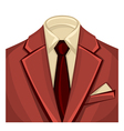 Mans suits for business background vector image