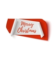 Merry Christmas red and white abstract banner vector image