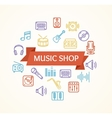 Music Shop Concept vector image