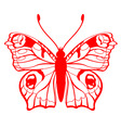 vector illustration of detailed butterfly silhouet vector image