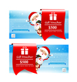 Collection of christmas gift voucher tag banner vector image
