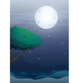 A moonlight scenery vector image vector image
