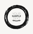 beautiful grunge circle vector image