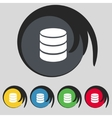 Hard disk and database sign icon flash drive stick vector image