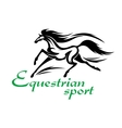 Running racehorse icon for equestrian sport design vector image