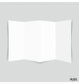 Blank paper brochure mockup vector image