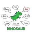 cartoon dinosaur kids learning game vector image