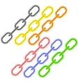 Colorful Metal Chains vector image