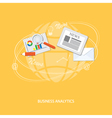 flat business elements vector image