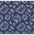 Lily Outline Pattern vector image