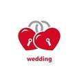 logo for wedding vector image
