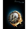 luxury watch vector image