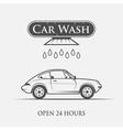 car wash vintage style vector image